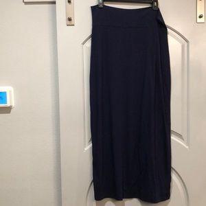Mossimo navy blue jersey maxi skirt.